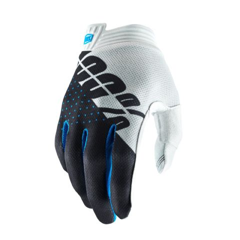 iTRACK 100% Glove White/Steel Gray